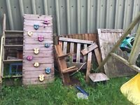 FREE Medium size play frame, able to be put together, small timber parts missing. Needs a little TLC