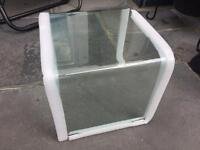 HEAVY CLEAR GLASS END TABLES