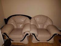 2 large leather seats