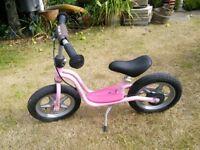 Puky German-made child's scoot-along bike. Pink. Princess Lillifee.
