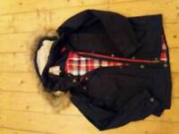 Ladies Navy Fat Face Jacket Size 16