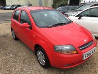 2004 DAEWOO KALOS 1.2 XTRA COOL 5DR RED ONE OWNER