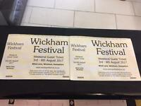 2 x Wickham Festival offers welcome