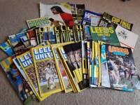 Vintage Leeds United Programmes
