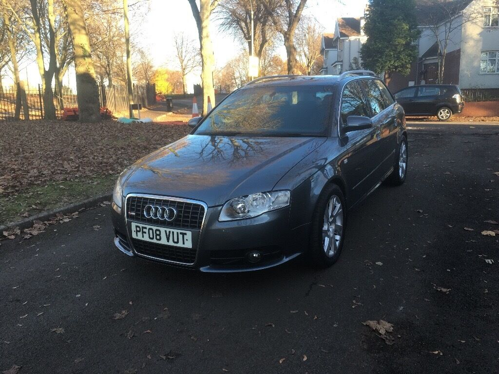 "2008 AUDI A4 AVANT S LINE AUTOMATIC 2.0 TDI ""FULL MOT + SAT NAV + DRIVES VERY GOOD + MUST BE SEEN"""
