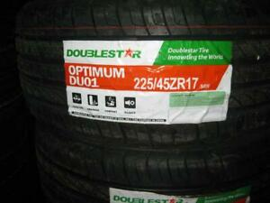 225/45R17 BRAND NEW SET ALL SEASON TIRES DOUBLESTAR