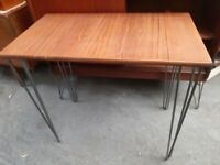 vintage retro teak wooden mid century small office work desk Danish 60s 70s table