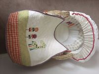 Mamas and Papas Jamboree Moses Basket (Never Used) With Rocking Stand £55