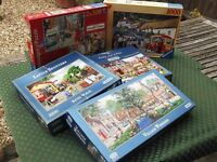 5 GIBSON and RAVENSBURGER JIGSAW PUZZLES - COMPLETE and BOXED - L@@K L@@K