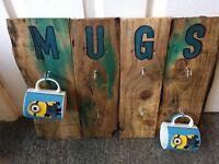Handmade wooden mug holder
