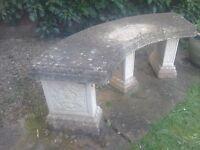 Garden stone bench.