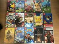 Nintendo switch games and extras