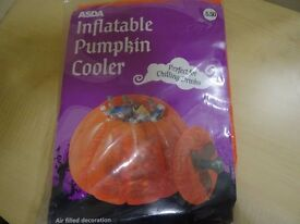 PUMPKIN DRINKS COOLER - INFLATABLE - NEW IN PACKAGING