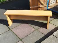 Beautiful Solid Oak Bench for indoor or outdoor use