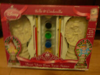 DISNEY PRINCESS PAINT YOUR OWN STATUES - BELLE & CINDERELLA - BRAND NEW!