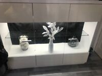 SOLD!!!White Gloss display Cabinet with LED light