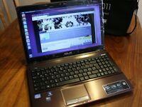Gaming ASUS X53S Laptop, Core i7 -2630QM QUAD ,Nvidia 1gb , 8GB, 500GB HD, Windows 7