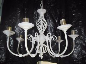 7 ARM SHABBY CHIC CHANDELIER