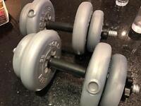 York Barbell 15kg weights set (2x 7.5kg)
