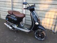 Swaps or cash 190cc reg as 125cc Vespa et4 moped scooter Piaggio Yamaha gilera Peugeot