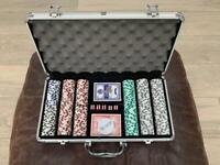 New Poker Chips Set: Professional 11.5g clay composite 300pc set