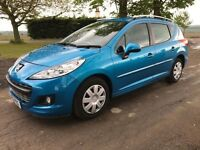 2012 Peugeot 207 Estate, 1.6 Hdi, only 73,000 Miles, Long Mot, Air Con