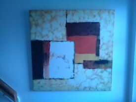 CANVAS PICTURE IN PERFECT CONDITION. PURCHASED TIME&TIDE.