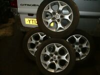 Four, 5 stud Astra H ally wheels