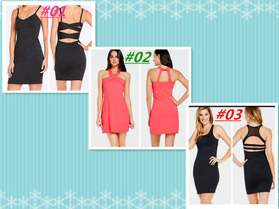 Fabletics Women's Over Knee Sleeveless Black Orange Sport Dress Size S Was $88