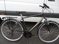 Raleigh Pioneer 1 Mens Brand New Traditional Hybrid Comfort Town Bike Rack Mudga Located in Bridgend