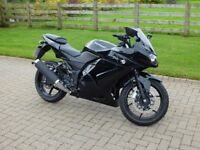 Almost brand new- Kawasaki 250 Ninja, beautiful bike as good as new! Recommended viewing