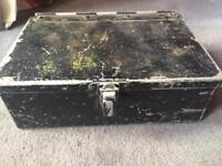 Black aluminium taxi/bus cash box