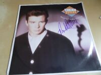collectible original signed autographed in person Rick Astley Record