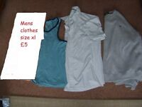 mens size xl £ 4.50 shirt, jumper, and vest smoke and pet free collection from didcot