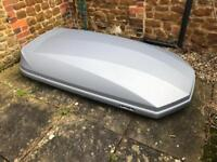 Halfords large roof box complete & in good condition