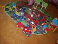 Happyland box and toys