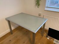 Frosted Glass Table