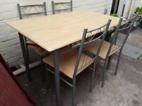 Table & 4 chairs used