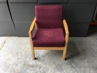 Renray Group Ltd purple fabric visitor chair