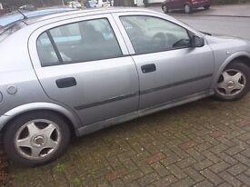 Vauxhall Astra 1.6 Petrol / LPG, 2003, For Spares Or Repair, MOT Sep 2017
