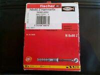 FISCHER NYLON HAMMERFIX 8 X 80MM 50 PACK