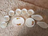 Pyrex tea set