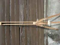 Artists easel. Vintage, telescopic wooden