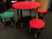 CHILDREN PLAYSCHOOL TABLE AND CHAIR SET