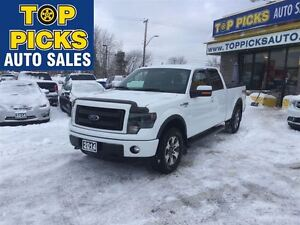 2014 Ford F-150 FX4, CREW CAB, 4X4, LEATHER, NAVIGATION, LOW MIL