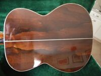 Hand-crafted Brazilian Rosewood Acoustic Guitar (used) by Luthier, Terry Docherty.