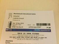 Ludovico Einaudi Concert Bournemouth BIC Sat 19th Nov 7pm £44 seats x 2