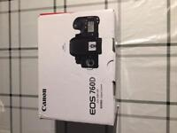 Brand new canon eos 760d with 18-135lens