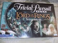 LORD OF THE RINGS TRIVIAL PURSUIT DVD GAME (Brand New & Boxed)