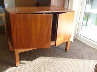 VINTAGE 1960s SOLID WOOD ( TEAK ) RECORD CABINET.
